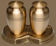 Brass Companion Cremation Urn