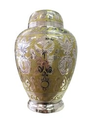 Silver and Gold Cremation Urn-Adult