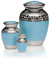Small Blue Cremation Urns Wholesale