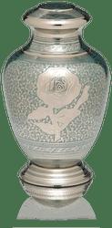 Teal Rose Adult Urn
